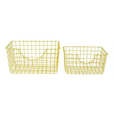 Yellow Wire Wilson Storage Basket