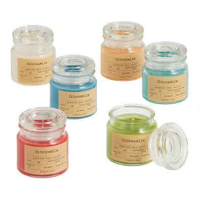 Apothecary Citronella Filled Jar Candle