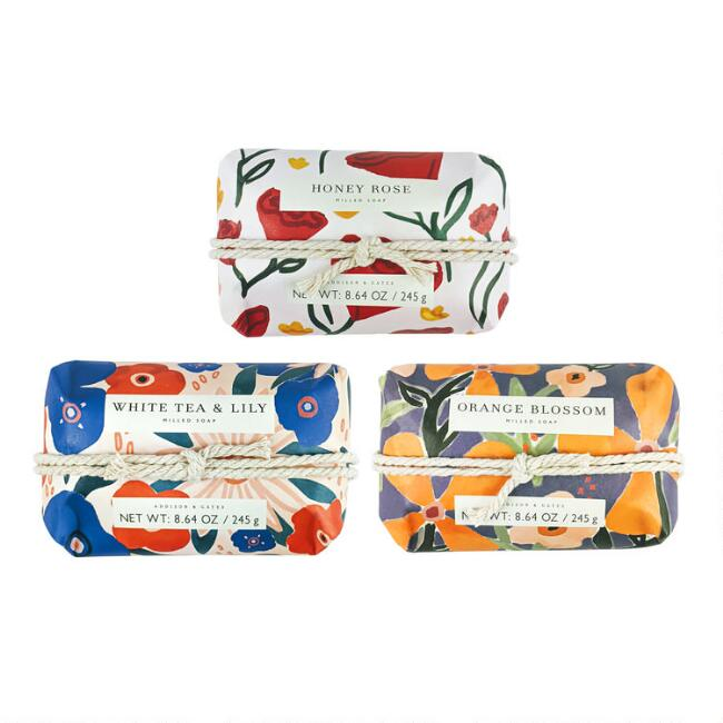 A&G Painted Wash Bar Soap Set of 2