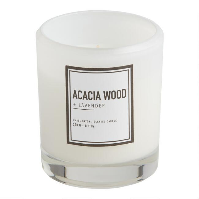 Acacia Wood & Lavender Clear Sham Scented Candle