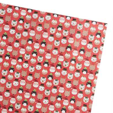 Red Polka Dot Pals Holiday Wrapping Paper Roll