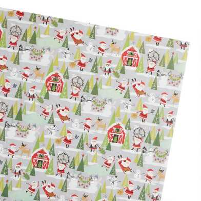 Homestead Santa Holiday Wrapping Paper Roll