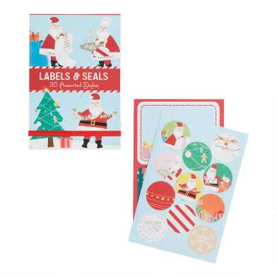 Classic Holiday Adhesive Gift Labels And Seals