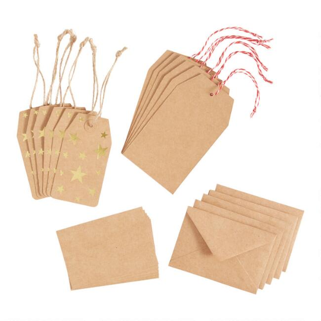 Assorted Kraft Cards And Gift Tags 24 Piece
