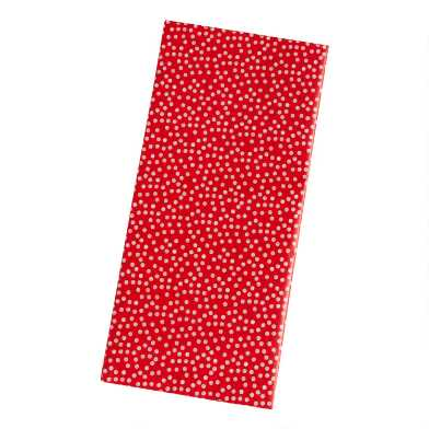 4 Pack Red And White Dots Tissue Paper Set Of 2
