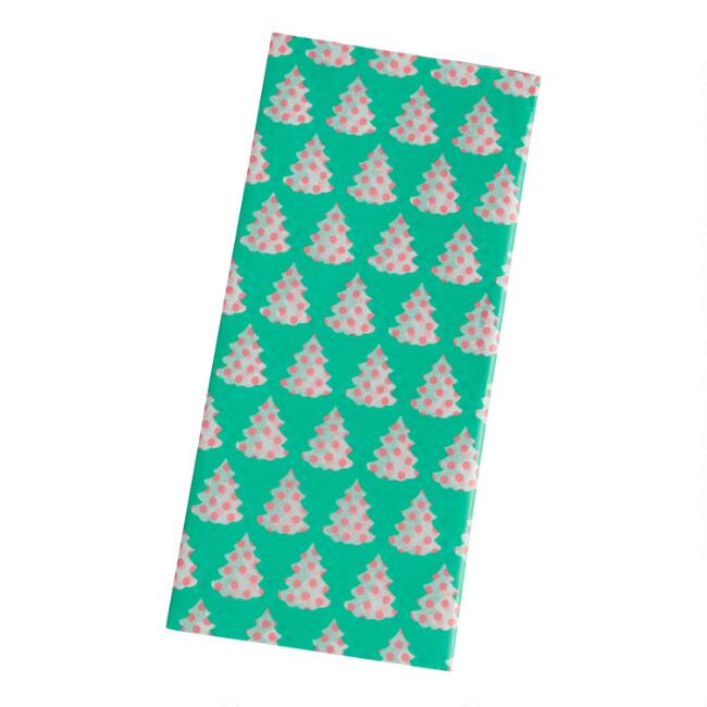 4 Pack Green Christmas Tree Tissue Paper Set Of 2