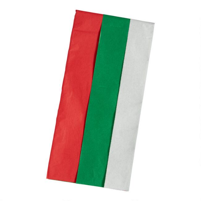 8 Pack Solid Color Christmas Tissue Paper Set Of 2