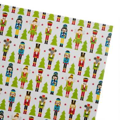 Nutcrackers And Evergreens Holiday Wrapping Paper Roll