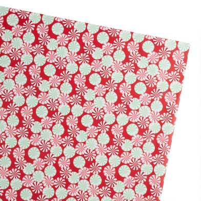 Jumbo Red Peppermints Holiday Wrapping Paper Roll