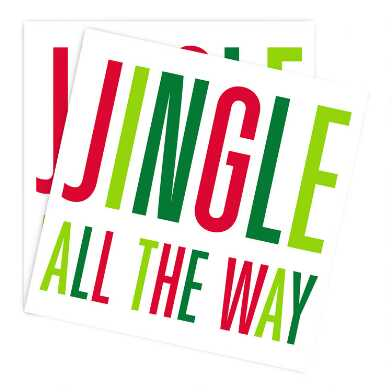 Jingle All The Way Holiday Beverage Napkins 20 Count