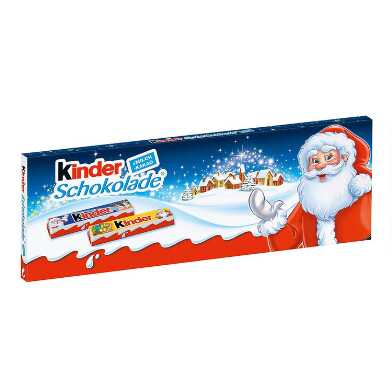 Kinder Christmas Cream Filled Mini Chocolate Bar 12 Count