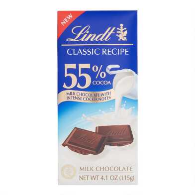 Lindt Classic 55% Milk Chocolate Bar Set of 3