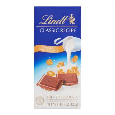 Lindt Classic Caramel Sea Salt Milk Chocolate Bar Set of 3