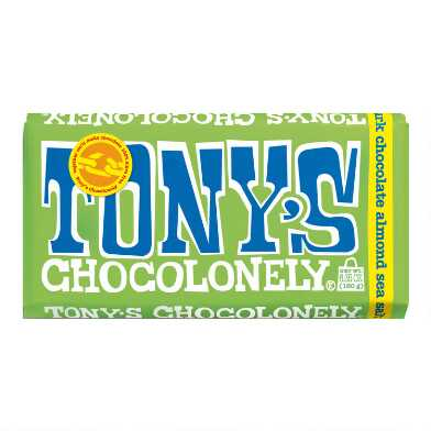 Tonys Chocolonely Almond Sea Salt Dark Chocolate Bar