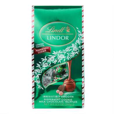 Lindt Lindor Peppermint Cookie Milk Chocolate Truffles Bag