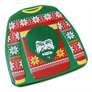 Bob Ross Ugly Sweater Sour Candy Tin Set of 3