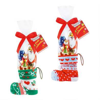 Riegelein Holiday Chocolate With Stocking Set of 2