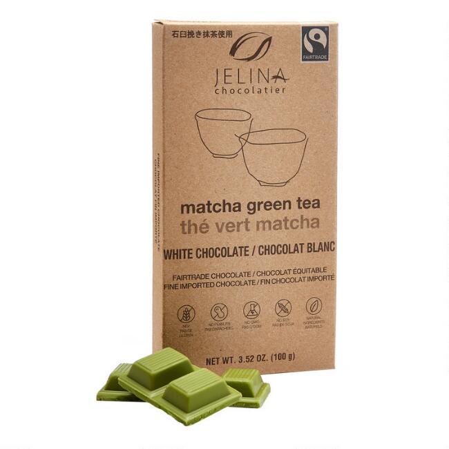 Jelina Matcha Green Tea White Chocolate Bar