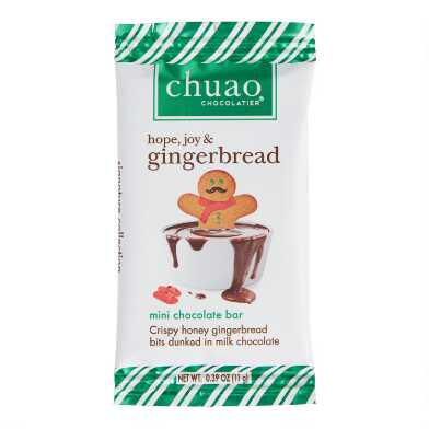 Chuao Mini Gingerbread Milk Chocolate Bar Set Of 6