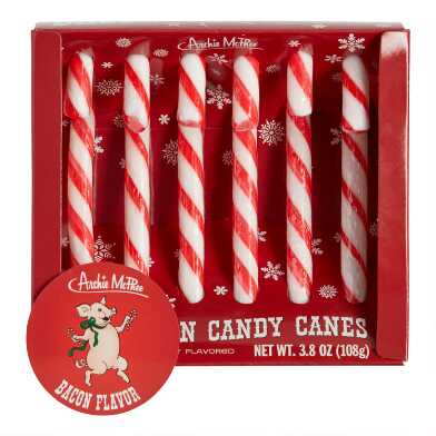 Bacon Candy Canes 6 Count