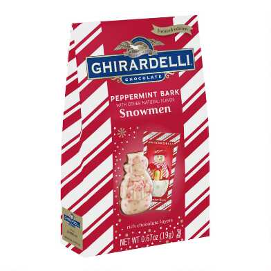 2 Piece Ghirardelli Peppermint Bark Snowman Set Of 6