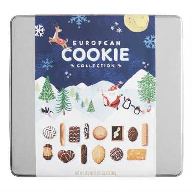 Santa and Friends European Cookie Collection Tin