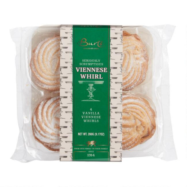 Burts Biscuits & Cakes Viennese Whirls 4 Count