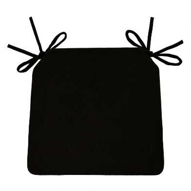 Black Bistro Chair Cushion