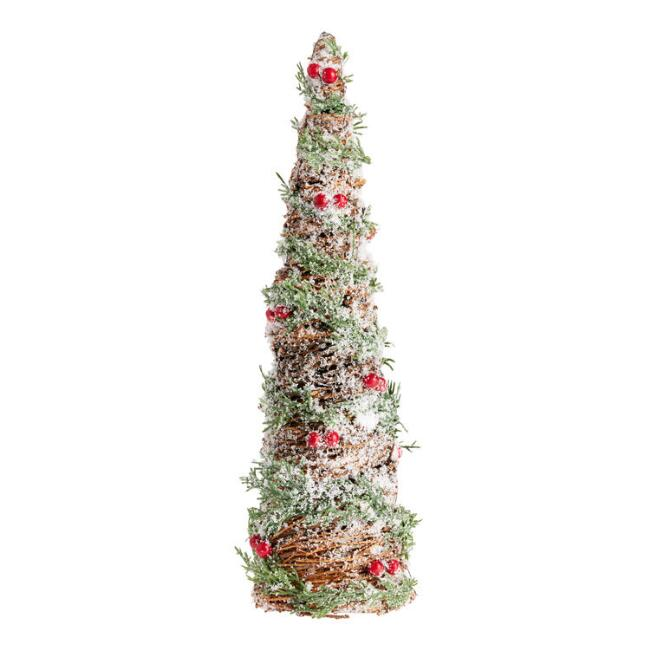 Vine Tabletop Tree with Faux Pine and Berries