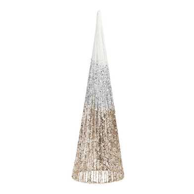 Large Glittered Cone Tabletop Tree