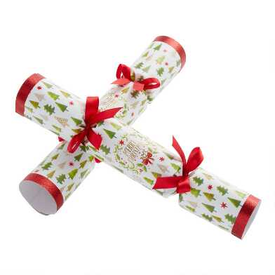 Large Merry Christmas Tree Crackers 6 Count