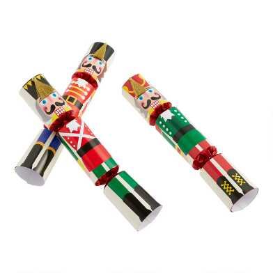 Large Multicolored Nutcracker Crackers 6 Count