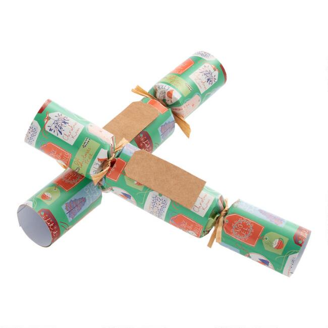 Medium Christmas Gift Tag Crackers 8 Count