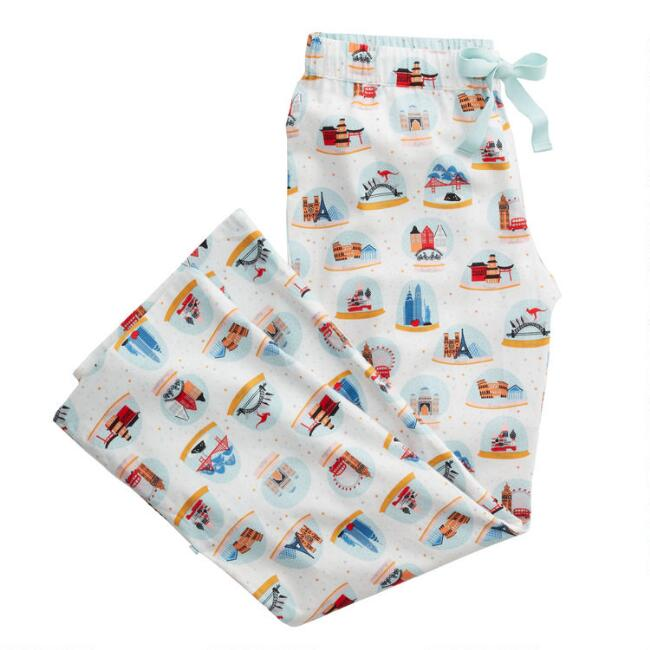 Ivory City Snow Globe Flannel Pajama Pants