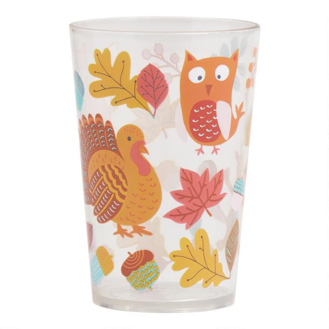 Thanksgiving Acrylic Juice Cups Set of 2
