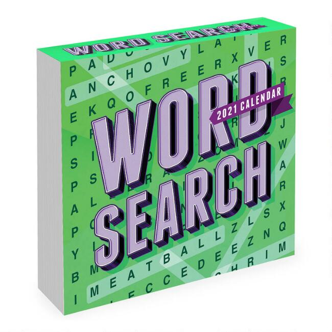 Word Search 2021 Daily Desk Calendar