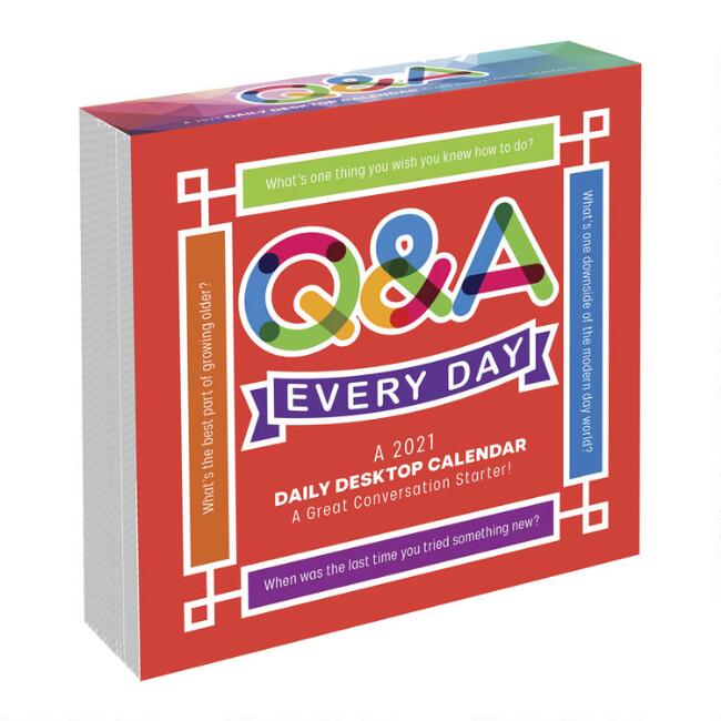 Q&A Every Day Holiday 2021 Daily Desk Calendar