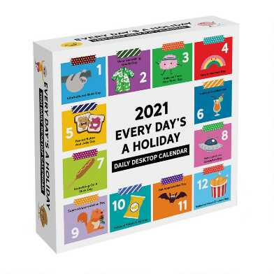 Every Day's a Holiday 2021 Daily Desk Calendar