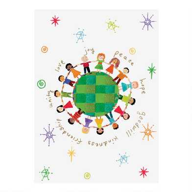 Global Kids Boxed Holiday Cards 15 Count