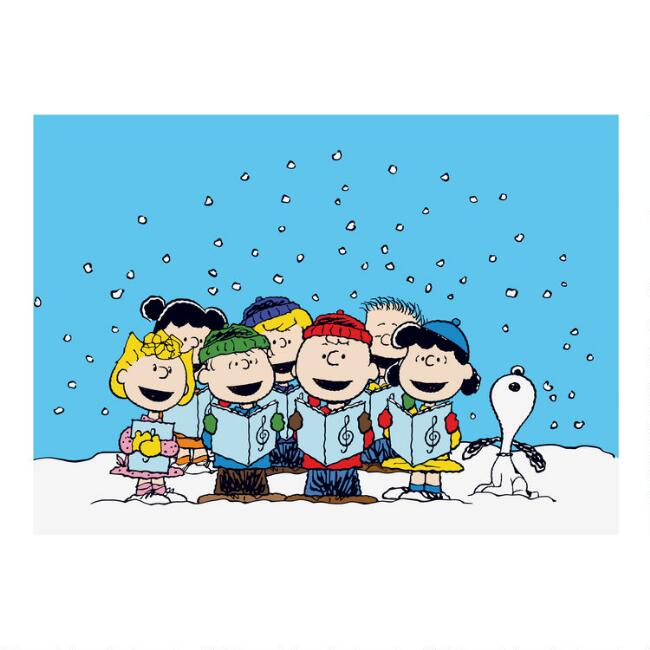 Peanuts Carolers Boxed Holiday Cards 15 Count