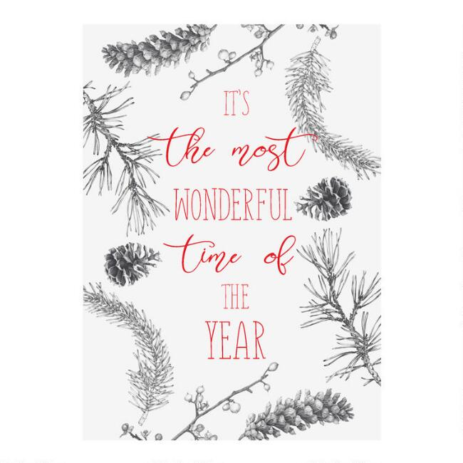 Wonderful Time of the Year Boxed Holiday Cards 15 Count