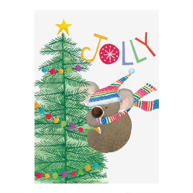 Jolly Koala Boxed Holiday Cards 15 Count