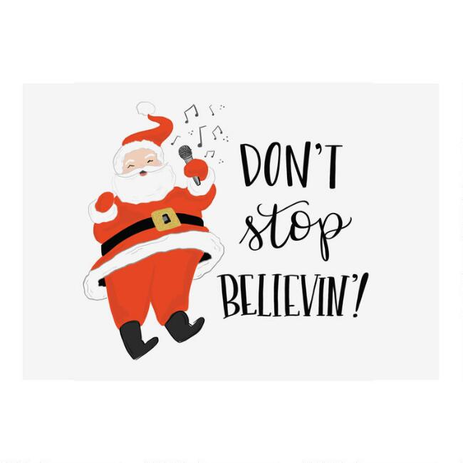 Don't Stop Believin' Boxed Holiday Cards 15 Count