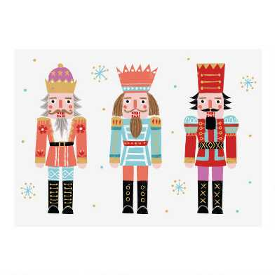 Three Nutcrackers Boxed Holiday Cards 15 Count