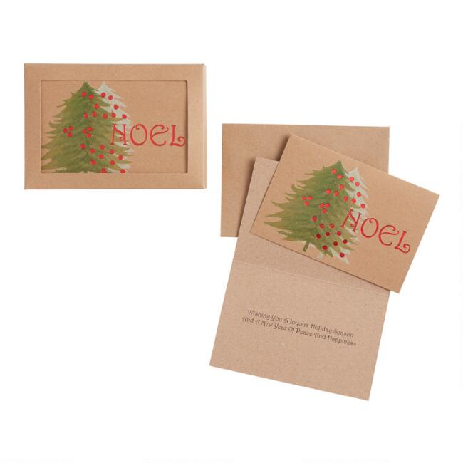Victorian Noel Kraft Boxed Holiday Cards 15 Count