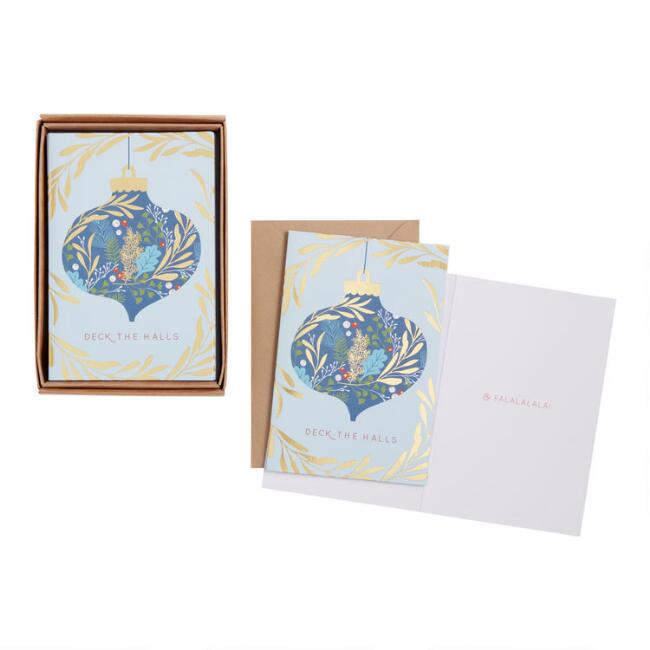 Ornate Ornament Boxed Holiday Cards 15 Count