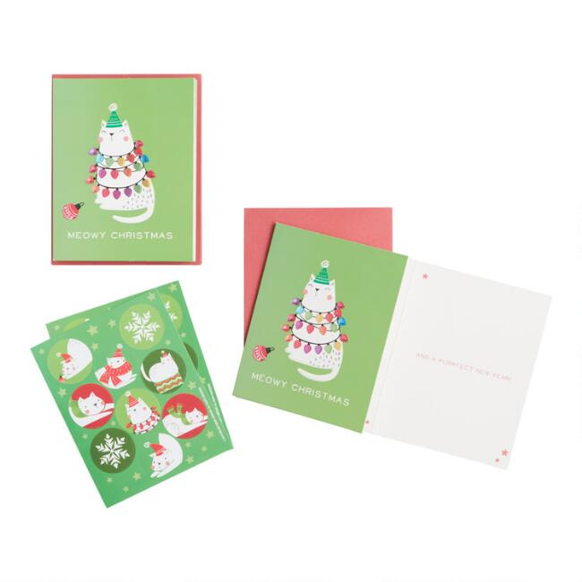 Christmas Cattitude Trees Boxed Holiday Cards 15 Count