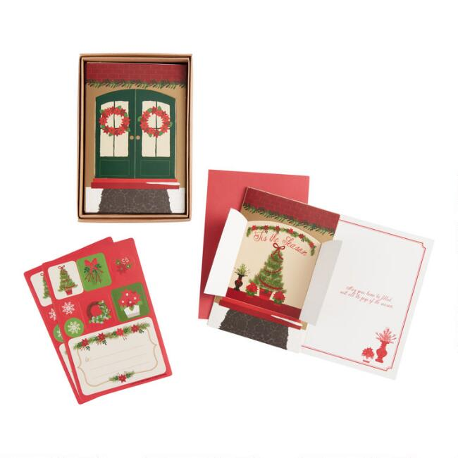 City Sidewalks Boxed Holiday Cards 15 Count