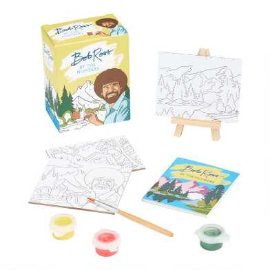 Bob Ross by the Numbers Mini Painting Set