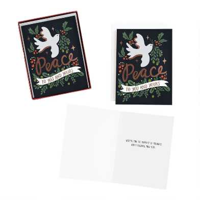 Dove of Peace Boxed Holiday Cards 15 Count